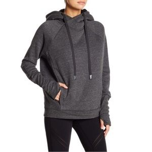 ALO Gray Shearling Hoodie Pullover Sz S, M